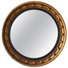 Regency Style Mid-20th Century Gilt Convex Mirror