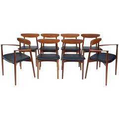 Set of Eight Danish Dining Chairs by Harry Ostergaard for Randers Møbelfabrik
