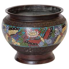 19th Century Cloisonné Footed Jardiniere