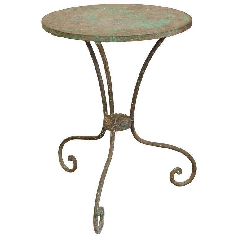 Small Iron and Cement Garden Table