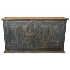 19th Century Painted French Two-Door Cabinet
