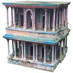 Sculpted Polychrome Wood Dovecote Ancient House Design