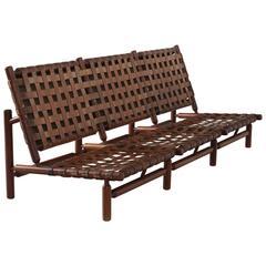 Ilmari Tapiovaara Rare Leather Strap Sofa