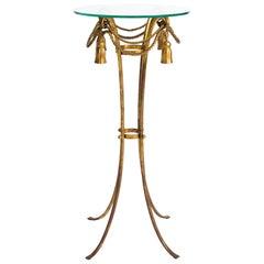 Italian Gilt Metal Tassel Pedestal / Fern Stand