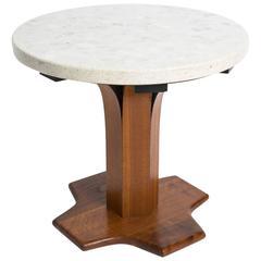 1970s Terrazzo Top Side Table