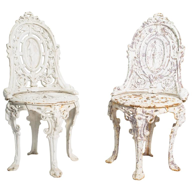 Early 20th Century English Garden Chairs