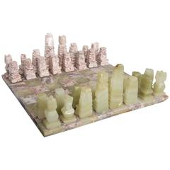 Check-Mate! Hand-Carved Marble and Granite Chess Set, It's the Holiday's