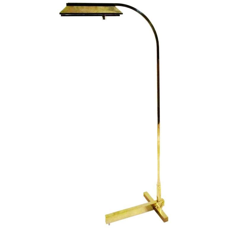 Solid brass casella lighting architectural floor reading for Casella brass floor lamp