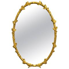 Giltwood Floral Wall Mirror by Friedman Brothers