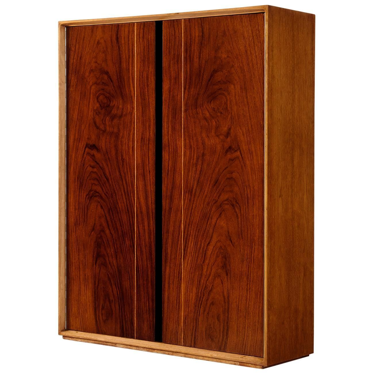 De coene 39 madison 39 wall mounted bar cabinet in walnut for for Expressive kitchen cabinets