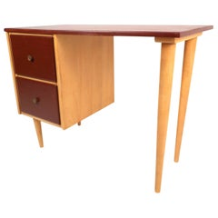 Mid-Century Modern Petite Writing Desk by J.B. Van Sciver Co