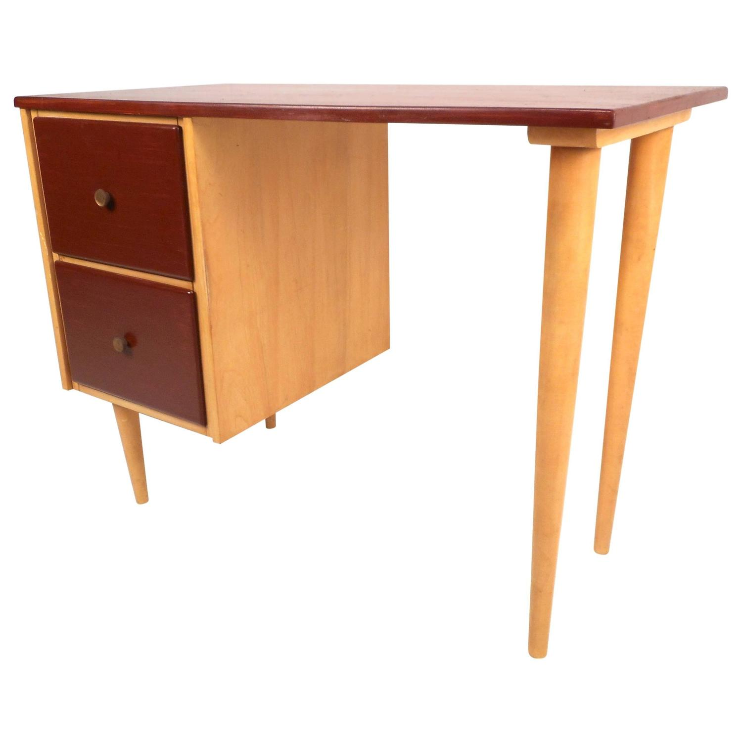 Mid Century Modern Petite Writing Desk by JB Van Sciver Co For