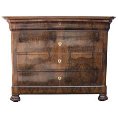 19th Century Walnut Louis Philippe Commode