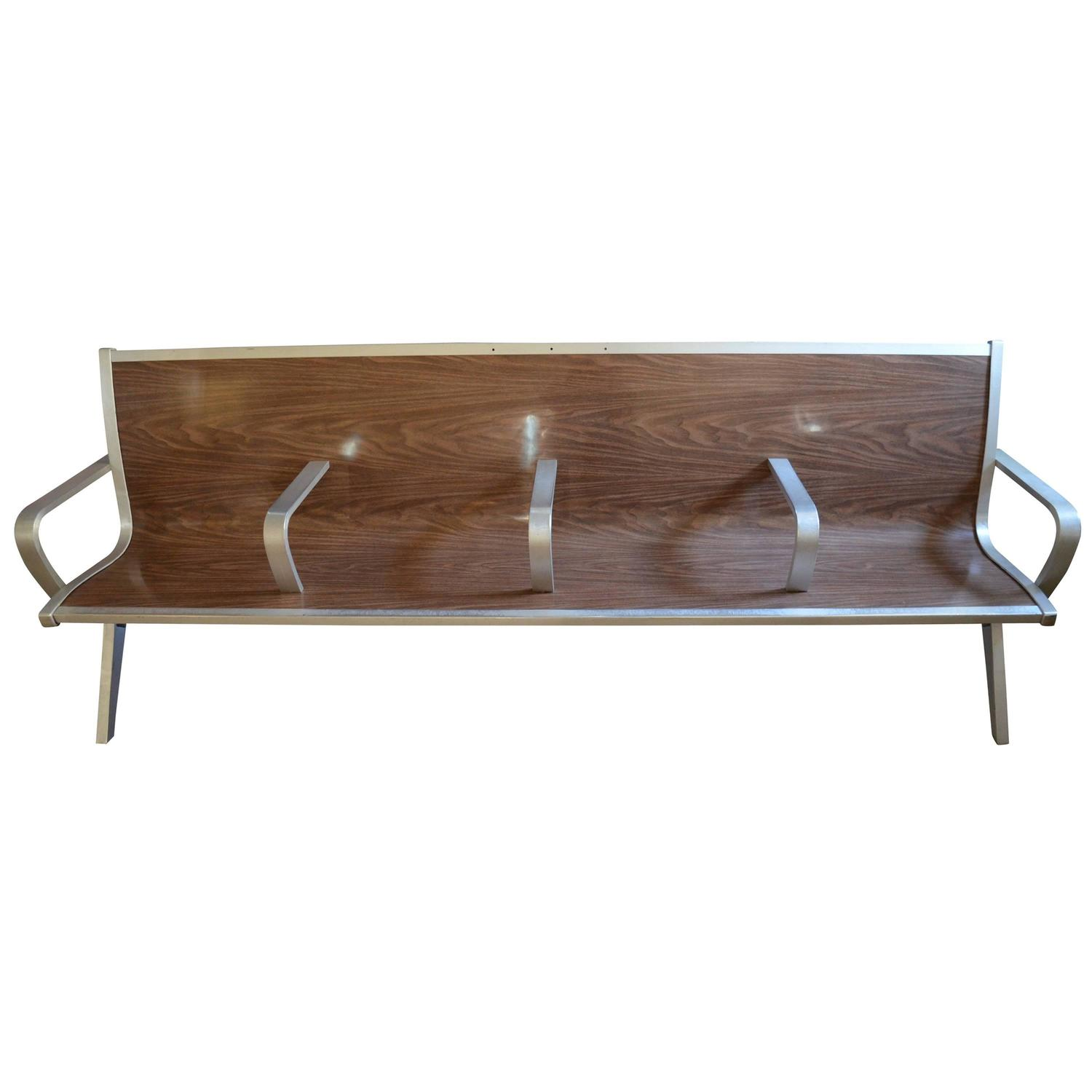 Mid Century Bench From Waiting Room Of Train Bus Depot For Sale At 1stdibs
