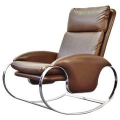 Guido Faleschini Italian Chrome Rocking Chair