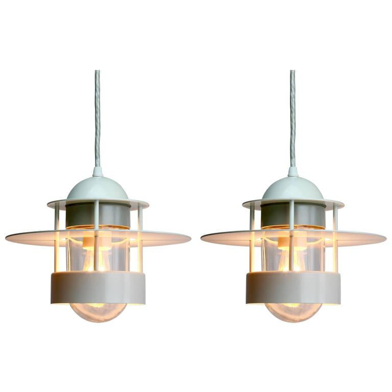 Pair Of Albertslund Industrial Style Pendant Lights For