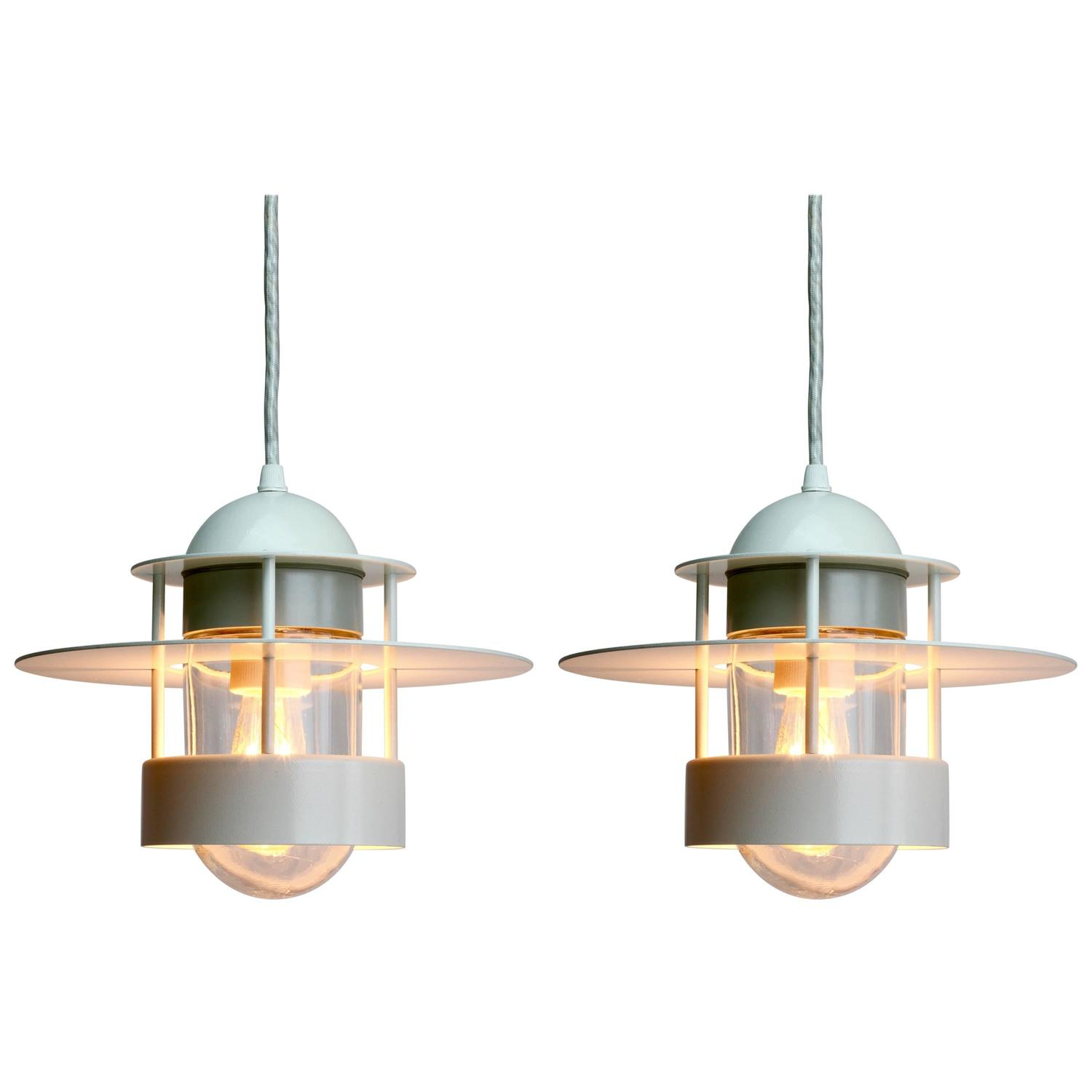 pair of albertslund industrial style pendant lights for louis