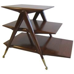 Mid Century Italian Tiered Table