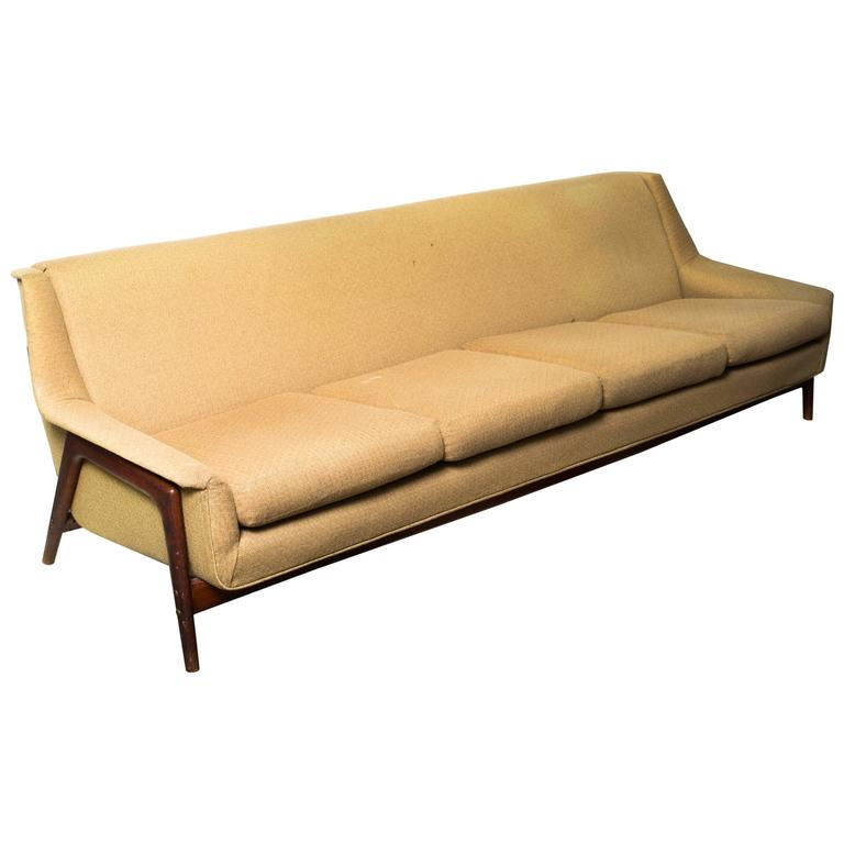 Genial Folke Ohlsson For DUX Danish Style Four Seat Sofa