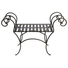 Classical Scroll Arm Iron Bench