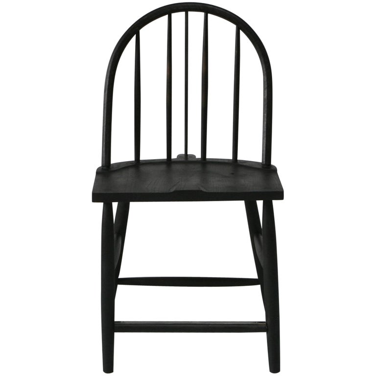 Rainbow side chair by sawkille in oxidized black walnut at for Sawkille furniture