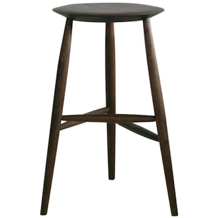 Tall stool by sawkille in american black walnut for sale for Sawkille furniture
