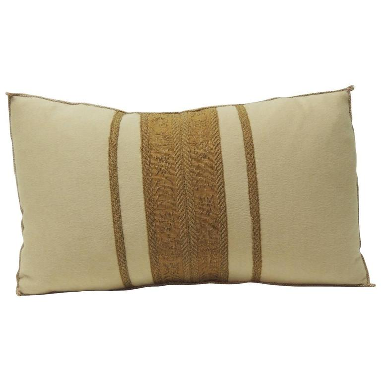 Antique Textile Cashmere Decorative Lumbar Pillow at 1stdibs