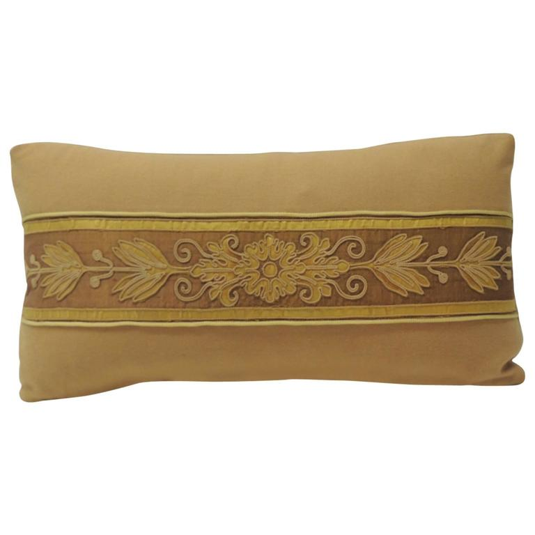 Vintage Decorative Pillow : 19th Century Applique French Antique Bolster Decorative Pillow at 1stdibs