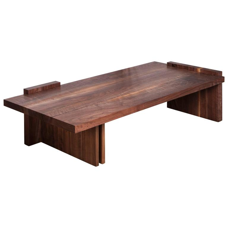 Low Coffee Table By Stillmade In American Black Walnut For Sale At 1stdibs