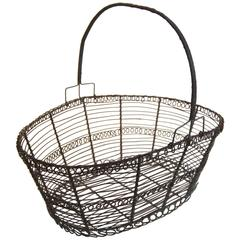 French Wire Basket, circa 1900