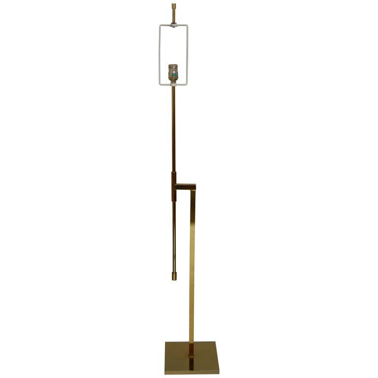 Laurel Brass Adjustable Floor Lamp