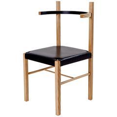 Soren Chair by Coil + Drift in Cinnamon Ash/Ebony Leather