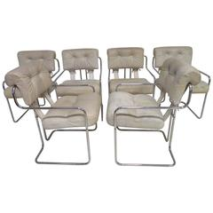 "Nice Set of Six Mariani for Pace ""Tucroma"" Dining Chairs, Mid-Century Modern"