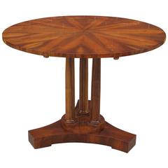 Biedermeier Tilt-Top Center Table by Master Cabinetmaker Josef Danhauser