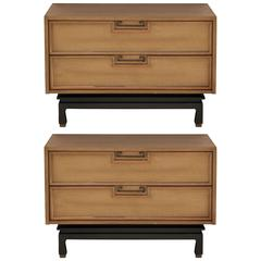 Pair of Large Low Chests or Nightstands by American of Martinsville