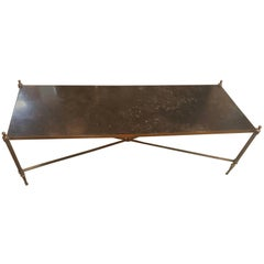 1940s French Granite and Brass Cocktail Table