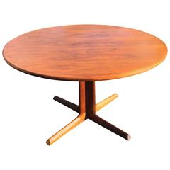 Mid-Century Modern Walnut Extendable Dining Table