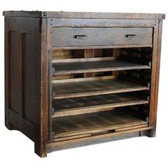 1920s Letterpress Printers Cabinet with Types For Sale at 1stdibs