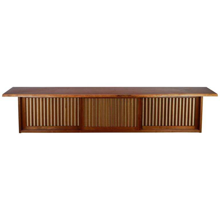 Walnut Wall Cabinet by George Nakashima 1