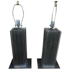 Pair of Brutalist Style Lamps