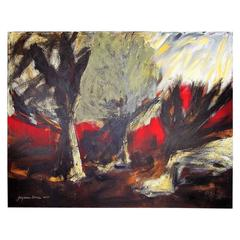 "Suzanne Clune  Titled ""Macbeth"" Abstract Expressionism 'Unframed'"