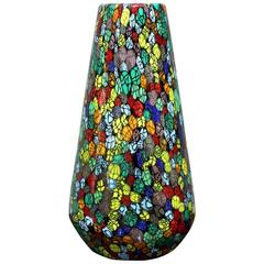 Exceptional Handblown Glass Vase by Vittorio Ferro