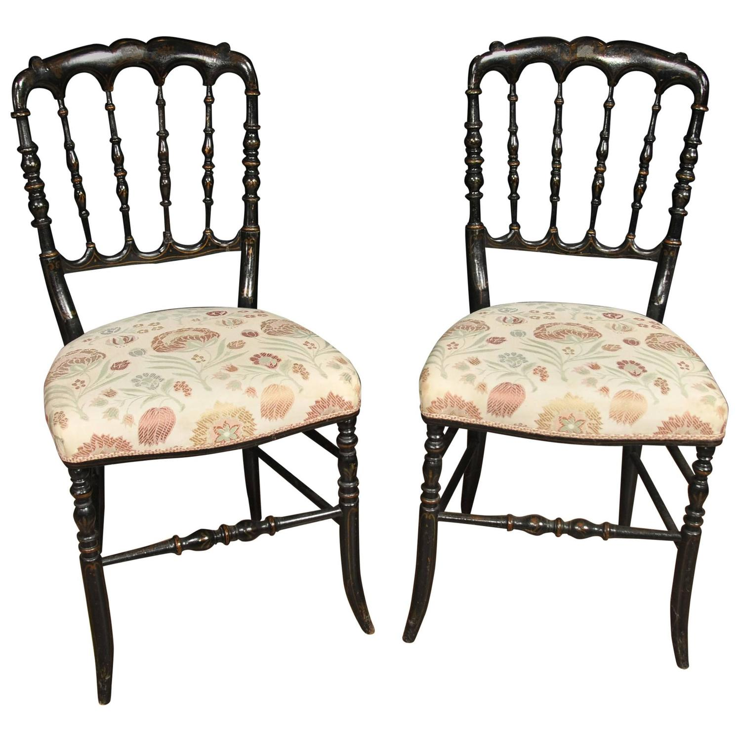 Pair Antique Chinese Black Lacquer Dining Chairs Spindle Back For Sale at  1stdibs - Pair Antique Chinese Black Lacquer Dining Chairs Spindle Back For