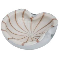 Barbini Murano Glass Bowl