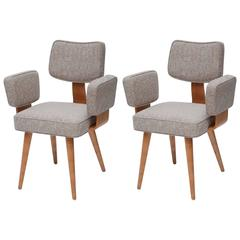 Pair of Thonet Mid-Century Armchairs