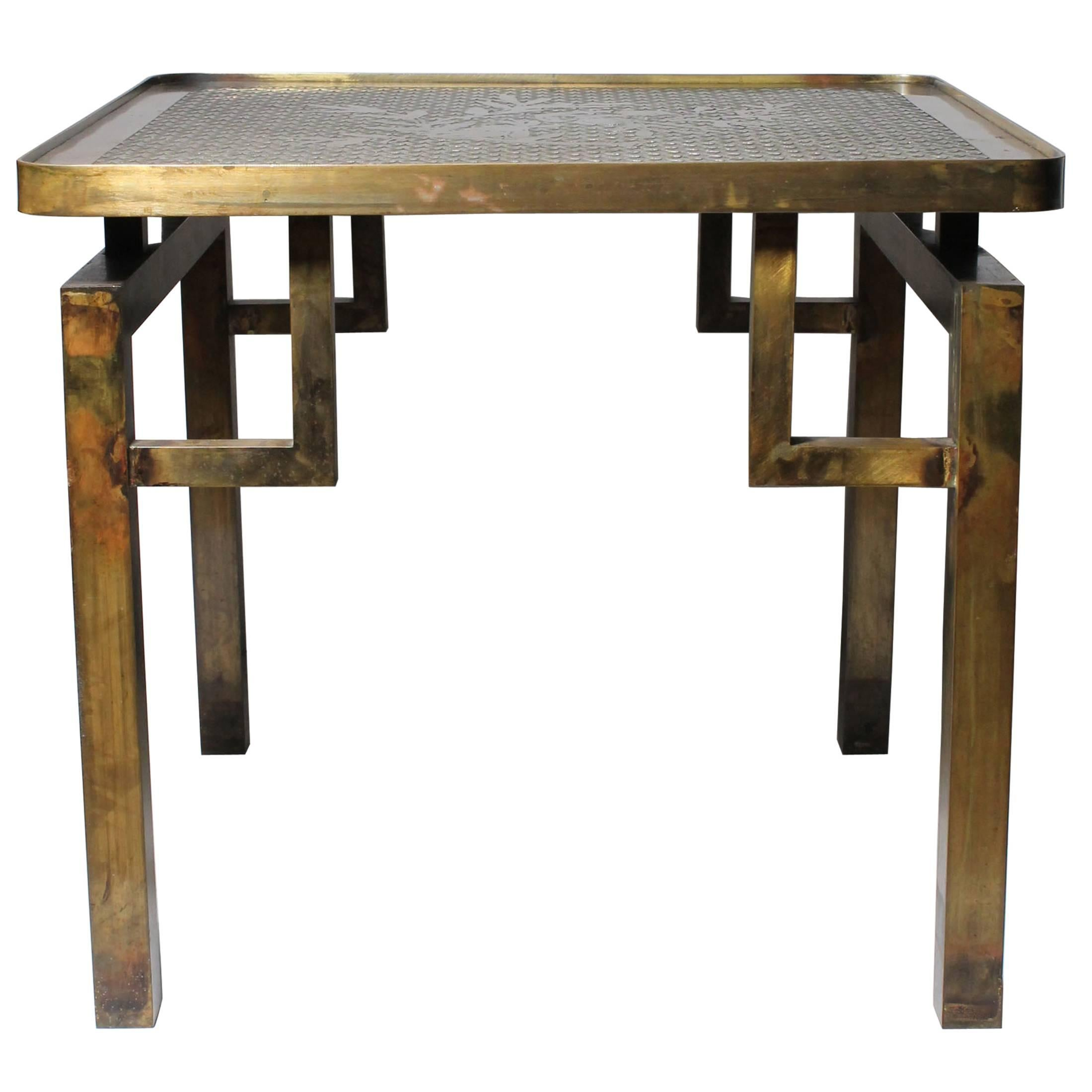 Architectural Brass Philip and Kelvin LaVerne Side Table