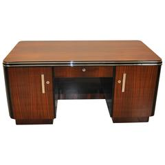 Two-Sided Art Deco Desk Made of Palisander Wood