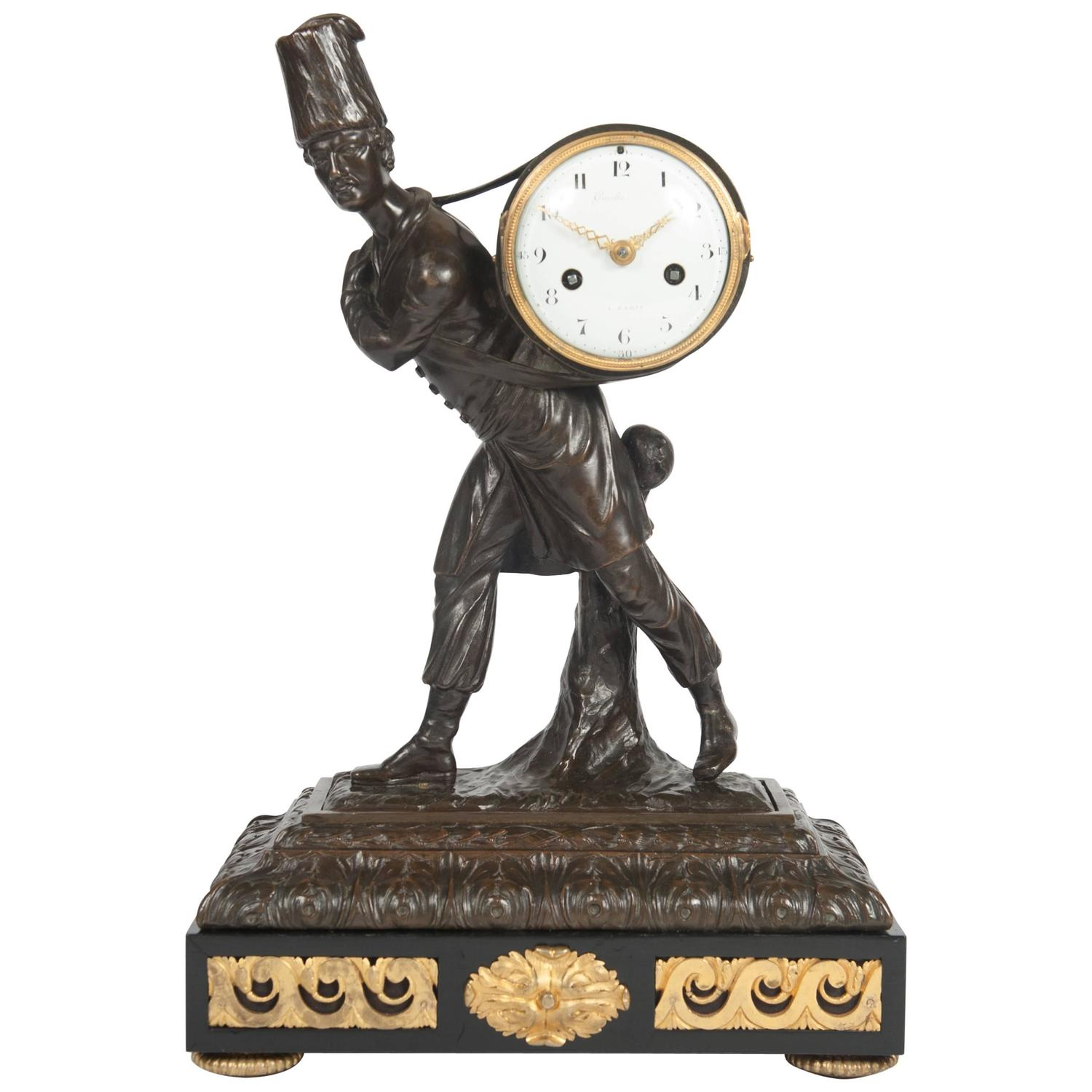 Good and very unusual louis xvi mantel clock circa 1780 Unusual clocks for sale