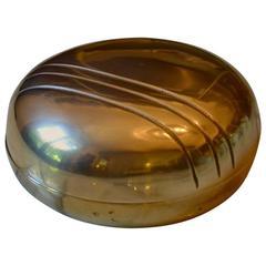 Decorative Rounded Bronze Bowl by Esa Fedrigolli, Italy, 1970s