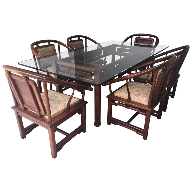 Dining Set in the Manner of James Mont, USA, circa 1960 1